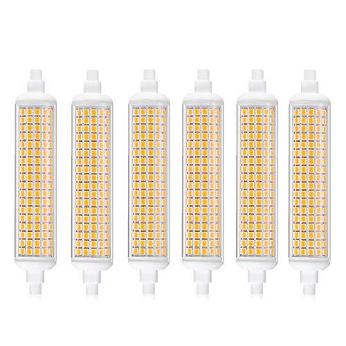 Lampadina 9W R7S Dimmerabile, Lampadina LED J-Type 108Mm AC220-230V 90W Equivalente Lampadina Alogena Double Ended Ceramica Paesaggio Floodlight Confezione da 6 [Classe Energetica A+],Bianco Naturale
