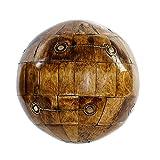 Hogar y Mas Bola Decorativa de Hueso, Estilo Colonial, Bola Decoración para Mesa o Bandeja 10x10 cm - B