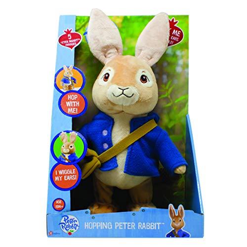 Peter Rabbit PO1428 Sprechender und hüpfender Peter Hase Plüsch-Spielzeug