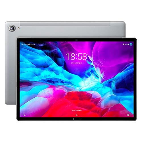 Nrpfell Tablet PC, Tableta de 10,8 Pulgadas, 2 + 32 GB de Reconocimiento Facial de Pantalla de 1,6 GHz 4K, para Empresas, Gris Plateado, Enchufe de la UE
