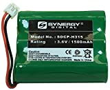 Synergy Digital Replacement Battery, Works with Telematrix 3300 Replacement, (Ni-MH, 3.6V, 1500 mAh) Ultra Hi-Capacity, Compatible with Vtech 80-5071-00-00 Battery