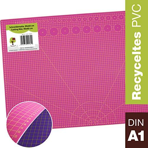OfficeTree Set de estera para corte - 90x60 cm (A1) malva - Cuadrícul