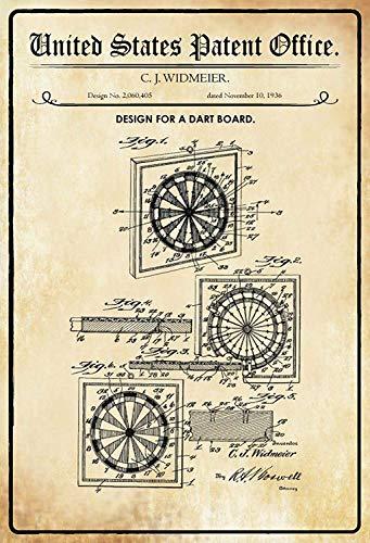 NWFS patent ontwerp voor een dart- spel metalen bord bord metalen plaat plaat metaal Tin Sign gewelfd gelakt 20 x 30 cm