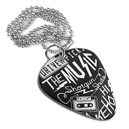 SHARP-Q Driver Music Unisex Metal Guitar Pick Necklace Pet Brand Keychain Accessories