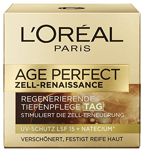 L'Oreal Paris Age Perfect Zell Renaissance regenerierende Tagespflege LSF 15, mit schwarzem Trüffel und Schwartee, stimuliert die Zell-Erneuerung und verlängert die Hautvitalität, 50 ml