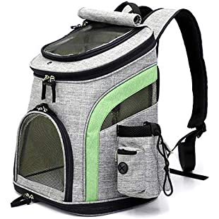 QNMM Pet Travel Carrier Backpack Soft-Sided Durable Outdoor Sports Backpack Tote Premium Quality Awesome Healthy Breathable Mesh, Up To 8 KG