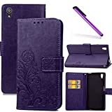 COTDINFOR Sony Xperia Z5 Case Wallet Bookstyle Pu Leather