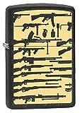 Zippo Lighter: Rifles and Guns, Engraved - Black Crackle 80770