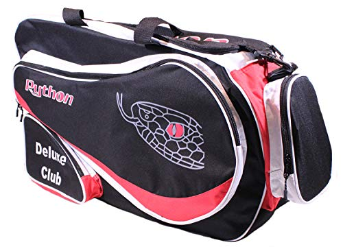 """Python Deluxe""""Club"""" Racquetball Bag (Black/Red)"""