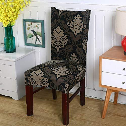 NIKIMI Fundas para sillas de impresión de Flores Fundas extraíbles Fundas elásticas para sillas Plegables para Bodas Banquete Hotel