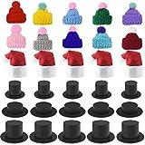 118pcs Mini Christmas Knit Hat Mini Red Xmas...