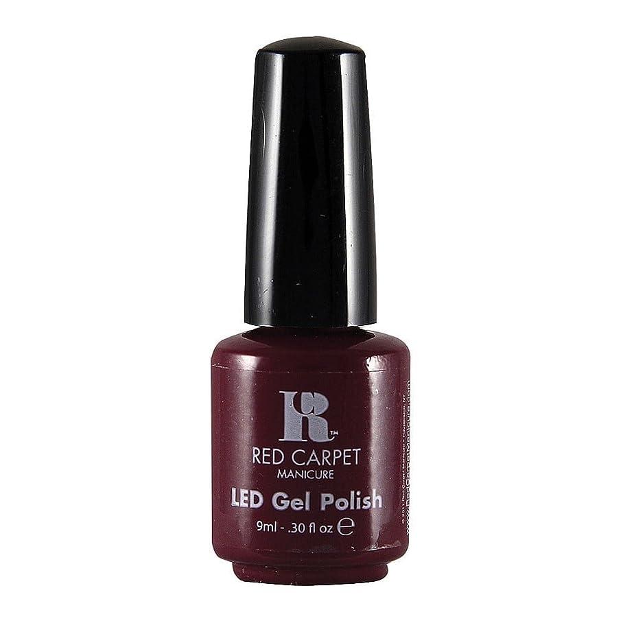 に対してペルセウス統計的Red Carpet Manicure - LED Nail Gel Polish - Plum Up the Volume - 0.3oz / 9ml