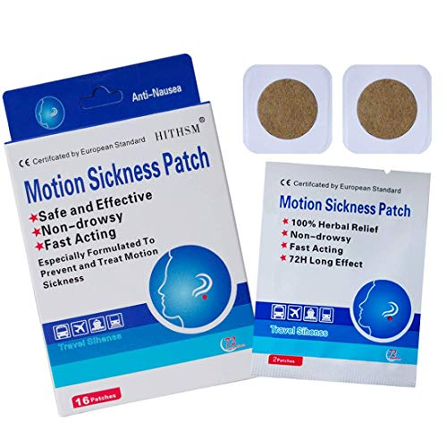 Motion Sickness Patch Anti-Nausea Relief Vomiting Nausea Dizziness Easy to Carry Suit for Car Sea Air Travel 20 Count/Box (16)