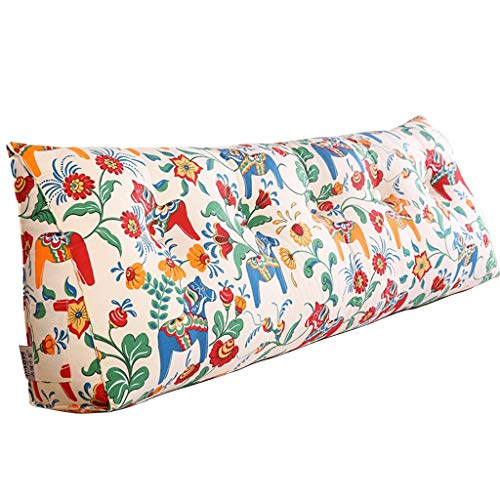 Textiel slaapbank kussen groot driehoekig leeskussen, driedimensionale rugkussens van katoen met gewatteerde overtrek afneembaar en wasbaar, geschikt voor kamers