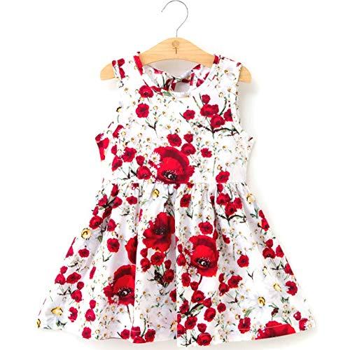 Leuke rok met patroon Jurk kinderen rok leuke rokje patroon mouwloze jurk meisje kleding comfortabel hjm ertongqun (Couleur : K12, Taille américaine des enfants : 3T)