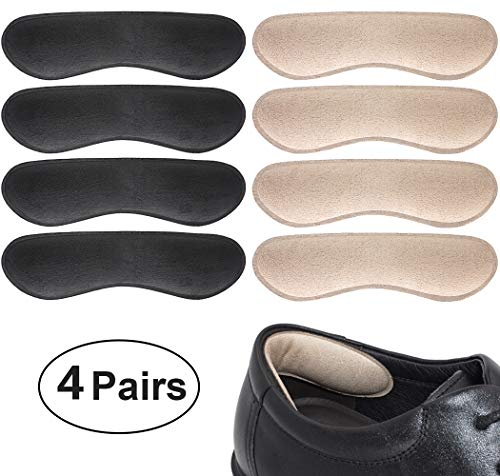 Dr. Foot's Heel Grips Liner Insert for Shoes Too Big, Shoe Inserts Liners for Loose Shoes, Preventing Heel Slipping, Rubbing, Non-Slip (Beige & Black)