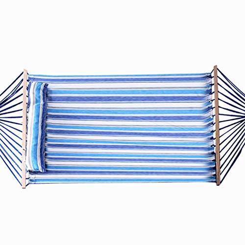 Yunyisujiao Hangmat, outdoor, camping en vrije tijd, dubbele hangmat, massief hout, voor binnen en buiten, balkon, linnen, hangmat, draagbaar, camping, hangmat, opslagruimte meer dan 200 kg
