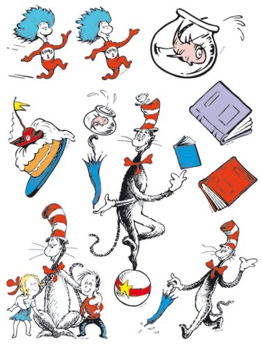 Eureka Classroom Window Clings - Cat in the Hat Characters