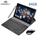 Tablette Tactile 10 Pouces WiFi 3GO RAM 64GO ROM (128 Go Extensible) DUODUOGO Tablette Android 8.1 avec Netflix Stylet OTG 8MP Caméra Dual SIM Tablette 10' Pas Cher 4G(Noir 64 Go)