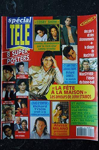 spécial TELE n° 18 1991 + 8 Posters V JOHNNY DEPP 21 JUMP STREET ALYSSA MILANO RICHARD TYSON ROCH VOISINES