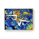 WuChao丶Store Ácido psicodélico LSD Lienzo Arte impresión Pintura póster Cuadros de Pared para la decoración de la Sala de Estar decoración del hogar 50x70 cm W-1028