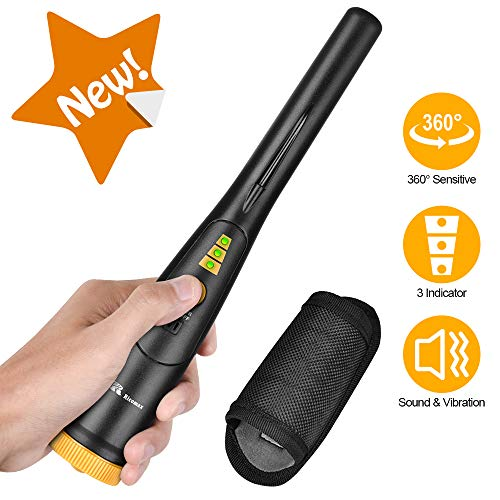 RM RICOMAX Pinpointer Metal Detector - IP68 Waterproof Metal Detect Wand w/Holster & 9V Battery Included, Great Treasure Hunting Probe for Kids & Adults, 2020 Upgraded Version Detectors Metal