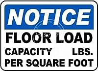 床荷重 金属板ブリキ看板警告サイン注意サイン表示パネル情報サイン金属安全サイン
