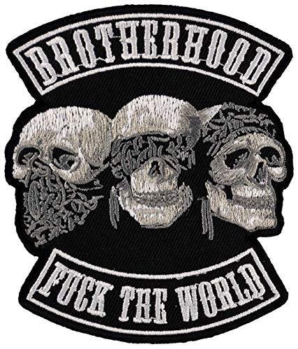 Aufnäher Aufbügler Patch Totenköpfe Brotherhood