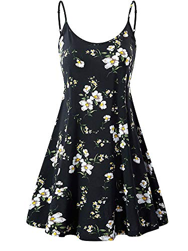 MSBASIC Strappy Sundress Country Boho Floral Dresses for Women MS6216-55 XS
