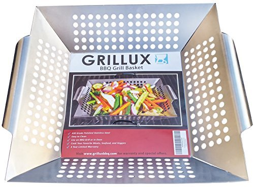 #1 BEST Vegetable Grill Basket - BBQ Accessories for...