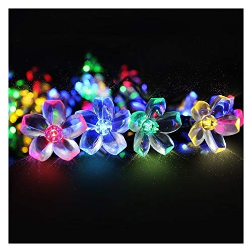 Mr Twinklelight 50 Led 6 5m Waterproof Festival Lights Led Solar Lights Celebrate Wedding Birthday Christmas Party Colourful Solar String Flowers