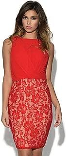 HJL-Women¡¯s Mistress Chiffon and Lace Draped Front Mini Dress