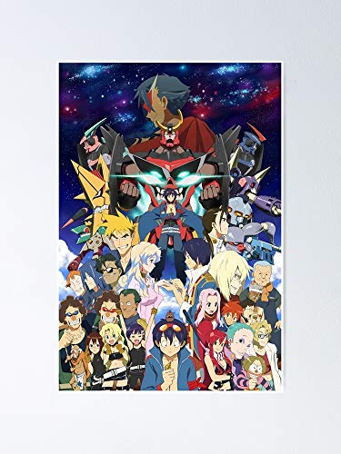 Lehuyng Tengen Toppa Gurren Lagann Poster 12.75' X 17' Inch No Frame Board for Office Decor, Best Gift Dad Mom Grandmother and Your Friends