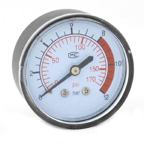 Sourcingmap a13100700ux0919Hydrovane Luftdruck Manometer Kompressor 0–170psi, 0–12Bar de