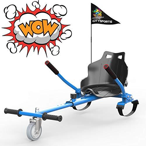 GEARSTONE Hoverkart pour Hover Board, siège Scooter Gokart hovercart, siège pour Scooter Auto-équilibrant, Convient aux hoverboards de 6,5 Pouces, 8,5 Pouces et 10 Pouces 4431
