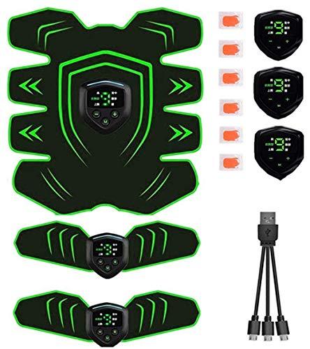 Lasuki EMS Muskelstimulator Bauchtrainer ABS Trainingsgerät Professionelle USB-Elektrostimulation Elektrischer Bauchmuskeltrainer Fitnessgürtel für Frauen und Männer