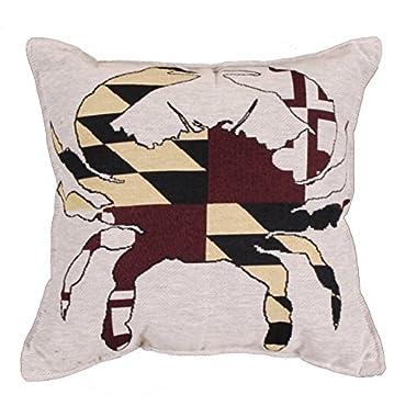 Maryland Flag USA Decorative Tapestry Toss Pillow USA Made SKU: PTP991