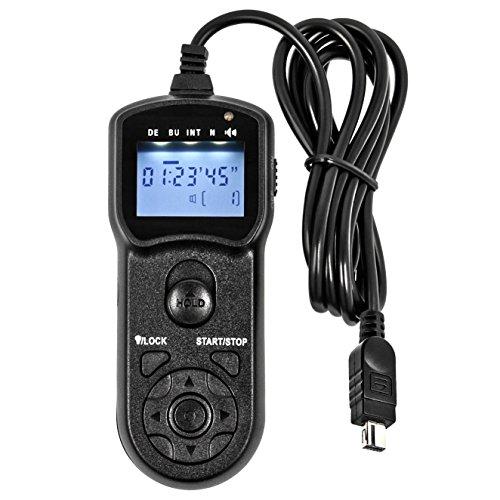 Programmeerbare timer afstandsbediening compatibel met Nikon DF, D7100, D7000, D5500, D5300, D5200, D5100, D5000, D3300, D3200, D3100, D750, D610, D600, D90 - vervangt MC-DC2