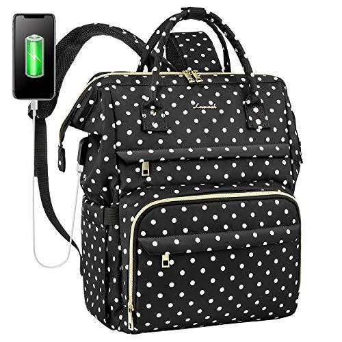 Mochila para mujer con compartimento para portátil de 15,6 pulgadas, mochila escolar para niña Teenager, mochila para ordenador portátil, impermeable