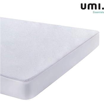UMI. Essentials - 2 X Protector de colchón de Rizo algodón Impermeable y Transpirable - 90 x 190/200 cm: Amazon.es: Hogar