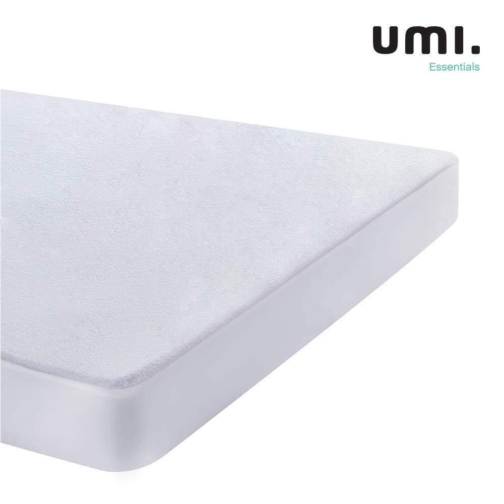 UMI. Essentials - Protector de colchón de Rizo algodón Impermeable y Transpirable - 70 x 140 cm: Amazon.es: Hogar