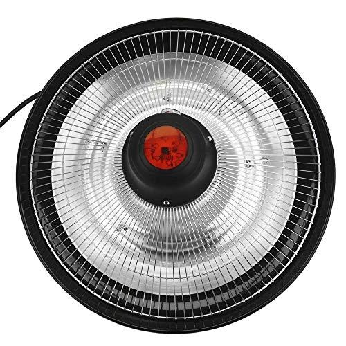 PrimeMatik – Decke Heizung Heizkörper für Innen und Außen Bar Restaurant Terrasse 425mm 1500W mit Fernbedienung - 3