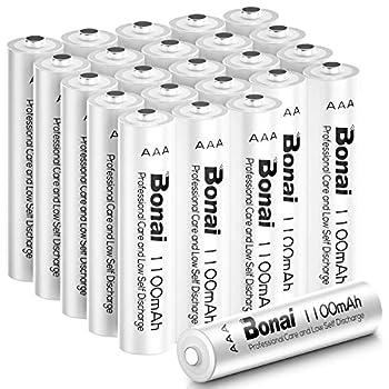 BONAI 1100mAh AAA Rechargeable Batteries 24 Pack 1.2V Ni-MH Rechargeable AAA Batteries high Capacity - Triple a Batteries