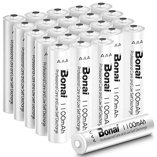 BONAI 1100mAh AAA Rechargeable Batteries 24 Pack,BONAI 1100mAh 1.2V Ni-MH Rechargeable AAA Batteries high Capacity - Triple a Batteries