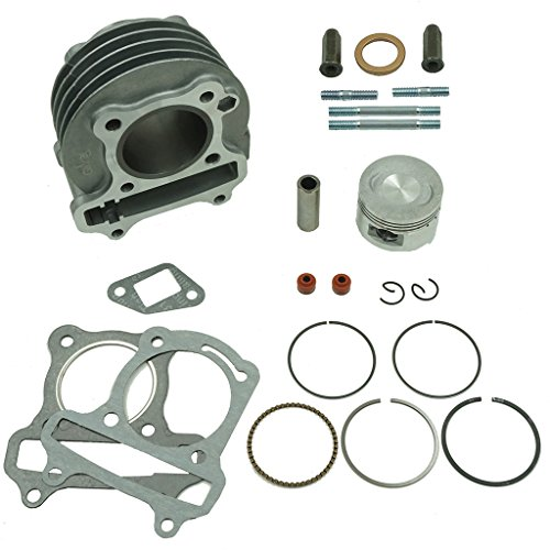 Glixal ATMT1-008 Performance Big Bore Cylinder Kit GY6 80cc 47mm for 139QMB ATV Scooter Moped Go Kart