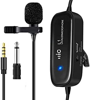 Lavalier Microphone Omnidirectional Electret Condenser with 236 Inch/6m Cable- Perfect Clip-on Lapel Mic for Phone Computer DSLR Camera in Recording YouTube Video Interview Podcast (L1) - ZHUOSHENG