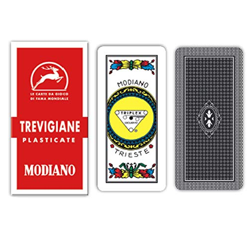 modiano 300134 carte da gioco trevigiane 89/90 plastificate