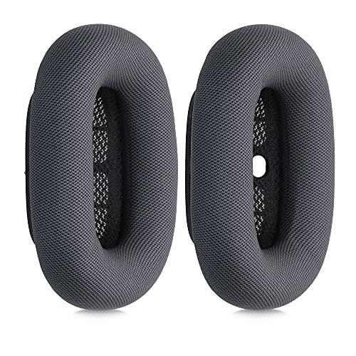 kwmobile Almohadillas compatibles con Apple AirPods MAX - 2X Almohadilla de Repuesto para Cascos y Auriculares en Cuero sintético