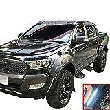 TAYDMEO Guardabarros de Rueda Pasos DE Rueda/Ajuste for Ford Ranger MK2 PX wildtrak T7 2015 2016 2017 2018 Cabina Doble Accesorios for el Coche (Color : 2020)