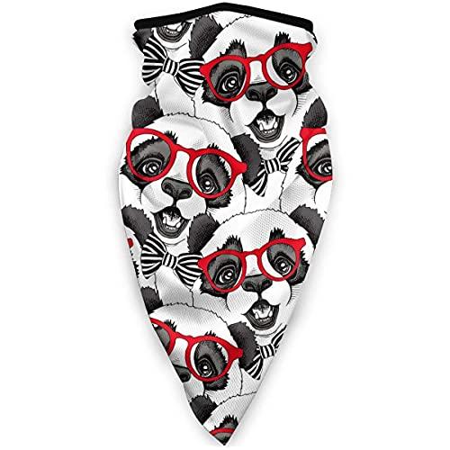 WH-CLA Bandanas Panda Niño con Gafas Rojas Regalo Tocado Diademas para Montar Pesca Bufanda Especial Multifuncional Deporte A Prueba De Viento Al Aire Libre Cuello Sin Costuras Protector